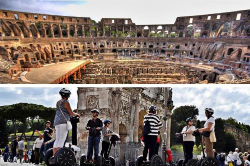 Skip the Line Colosseum Guided Tour PLUS Segway Tour - COMBO TOUR